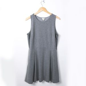 A New Day Heather Grey Fit and Flare Dress Large